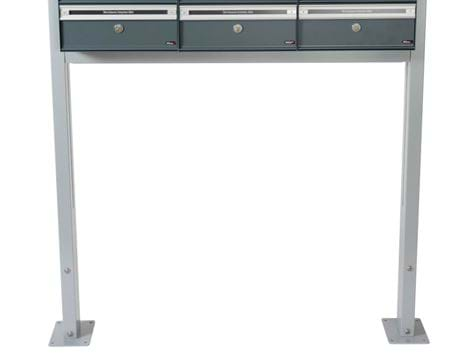 PC STAND FOR MOUNTING ON FLOOR GALV 1750MM RAL 9006