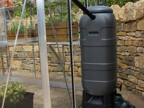 Grey 100ltr mini rainsaver water butt + stand