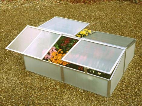 Polycarbonate cold frame